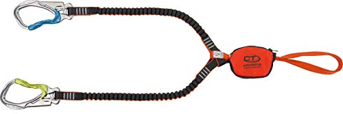 Climbing Technology Hook-it Slider, Juego Ferrata Unisex–Adulto, Naranja/Gris, Talla única