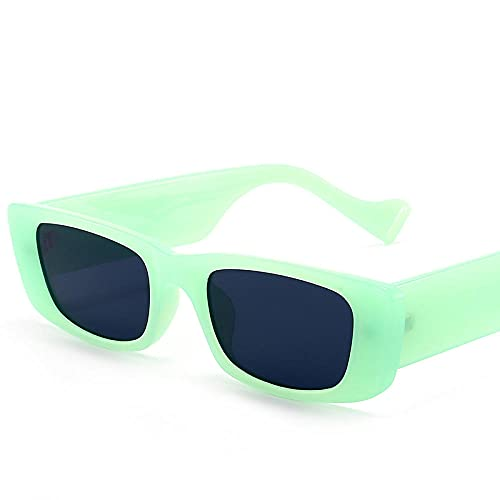 Gafas de sol cuadradas retro caja pequeña hombres y mujeres tendencia europea y americana gafas de sol gafas de sol-Tea frame tea_Introduction