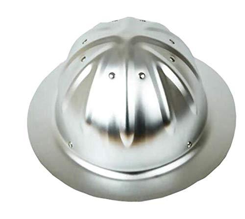 Aluminiumhelm,Aluminium Helm, Bau Helme, Aluminium Hard Hüte, Sonnenschutz, Außenhelm, Sonnenschutz (Farbe : Original aluminum)