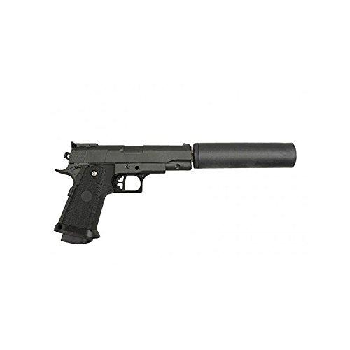 Galaxy - pistola para airsoft Mini Hi-Capa con resorte silencioso, completamente de metal, recarga manual (0,4 julios)