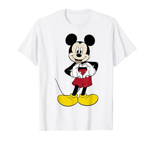 Disney Mickey Mouse Heart Hands Pose Graphic T-Shirt