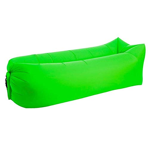 Sofá cama inflable rápido del aire, saco de dormir, bolsa de aire inflable, bolso perezoso, bolso de la playa del sofá acostado (E)