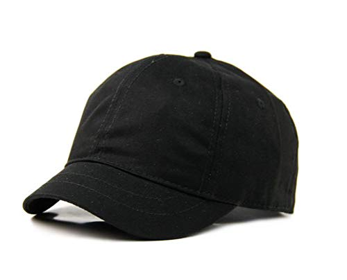 Crazy Cart 100% Cotton Adjustable Sun Hat Baseball Cap Black