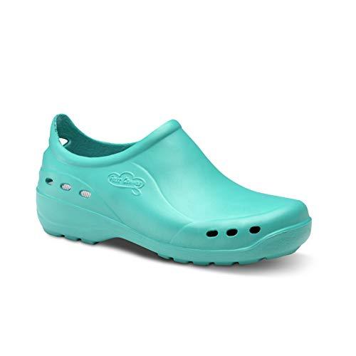 Feliz Caminar - Flotantes Shoes, Zapato Sanitario, Verde, 40 EU