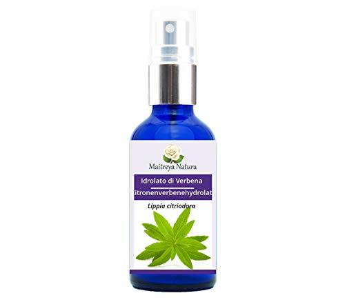 Maitreya Natura HIDROLATO DE VERBENA Orgánico, 100% pure and natural, 50 ml - aromaterapia, agua perfumada, cosmética - calidad controlada y certificada, libre de crueldad animal, vegano