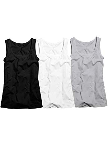 ellos Women's Plus Size 3-Pack Sleeveless Tank - L, Heather Grey Pack