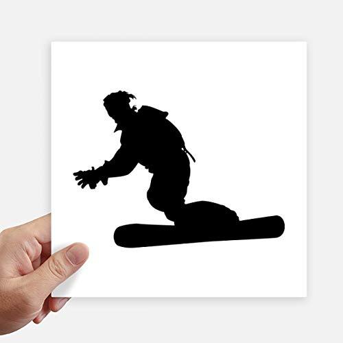 DIYthinker Plaza Patronato de Deportes del esquí del esquí Jugador Pegatinas Pared de 20 cm Maleta portátil Motobike Decal 4 Piezas 20cm x 20cm