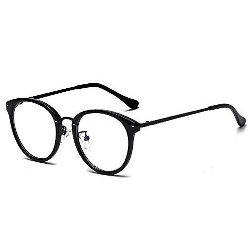 Gafas Bloqueo Luz Azul Round Rice Nailsblack Frame 2 Pack, Claro Filtro De Lectura De La Computadora De La Lente Gafas, Anteojos Ópticos, Mujeres De Los Hombres (Dormir Mejor), Como Se Muestra