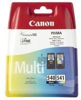 Canon PG-540+CL-541 Cartucho Multipack de tinta original Negro y Tricolor para Impresora de Inyeccion de tinta Pixma TS5150-TS5051-MX375-MX395-MX435-MX455-MX475-MX515-MX525-MX535-MG2150-MG2250-MG3150-MG3250-MG3550-MG3650-MG4150-MG4250