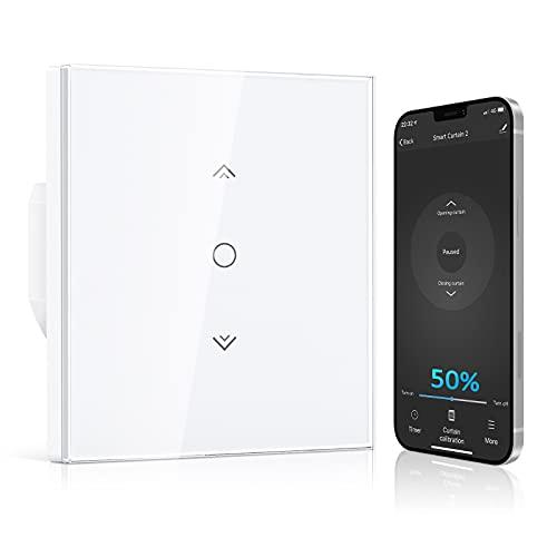 【Prozentfunktion】Alexa Wlan Rolladenschalter, Etersky Smart Rolladen Zeitschaltuhr mit Prozentfunktion, Schaltbares LED Smart Rolladen Schalter, App Steuerbar und kompatibel mit Alexa/Google Home