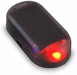 ZooooM 車 用 センサー 型 ダミー 防犯 ライト フロント ダッシュボード 盗難 防止 警告 カー用品 威嚇 太陽光 パネル 電源 不要 ソーラー 光 点滅 車上荒らし ピカピカ 光る ZM-PIKASO