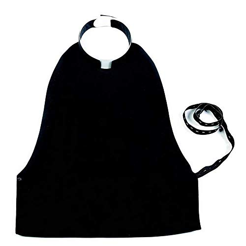 Clergy Shirt Front Vest   Roman Rabat   Adjustable Elastic Band   100% Cotton and Lined (Black, 43 cm / 17 in)