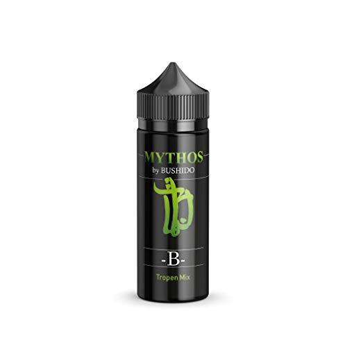 Mythos by Bushido Aroma - B - Tropen Mix 10ml Konzentrat in einer 120ml Chubby Flasche zur herstellung von e Liquid Bottle in Bottle Nikotinfrei!