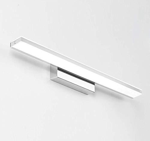 MFLASMF Luz de Espejo LED para baño, Maquillaje, iluminación Frontal, Espejo, Faro, lámpara de Pared Que Ahorra energía, Base de Acero Inoxidable para baño, Espejo, gabinete, Imagen, tocador de Pare