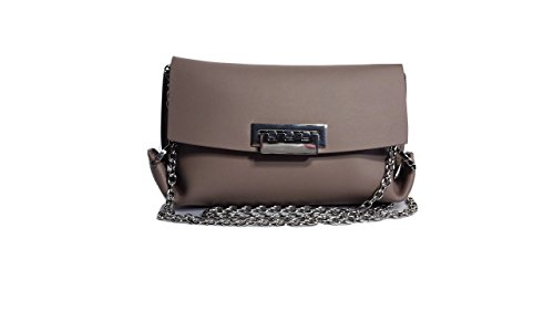 "Calf Leather Leather lining with dust bag Flip-lock closure with silver-tone hardware Detachable cross-body strap Approximately 8""(L) x 6""(H) x 1""(D)"