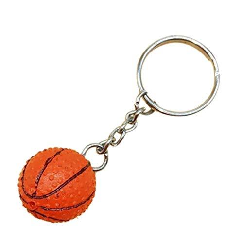 Fútbol Baloncesto PU Llavero Juguetes Deportes De Artículos Regalo De La Joyería Llaveros para Niños Y Niñas (Baloncesto)