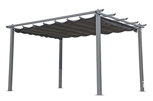 OUTFLEXX Pergola, Gartenpergola in anthrazit, Garten-Pavillon aus Aluminium Alu, hochwertige Garten-Laube, ca. 400x300x220 cm