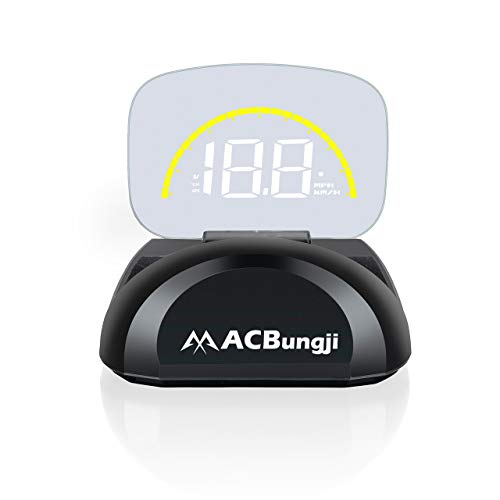 ACBungji Car Head up Display HUD OBD2 GPS Dual Mode Speedometer Tachometer Projector RPM MPH Over Speed Alarm Voltmeter Water Temperature Warning Auto Truck SUV RV Universal (C700S (OBD2+GPS))