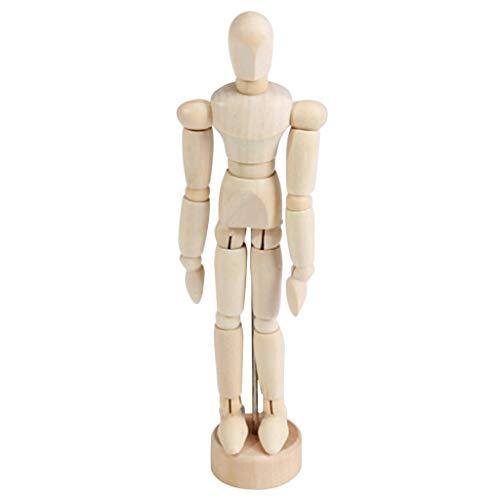 Fenteer Unisex Modellpuppe/Gliederpuppe/Mannequin aus Holz ideal als Modell - 5,5 Zoll