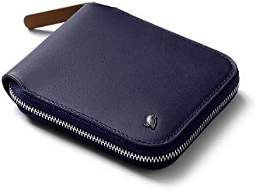 Bellroy Zip Wallet Leather Zipper Wallet RFID Blocking Coin Pouch Navy product image