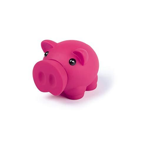 Sparschwein mit weichem Körper aus Gummi in lebendigen Farben, originelle kleine Spardose für Kinder, mit Deckel, leicht und robust, Rosa