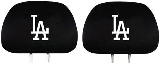 Team Promark HRML15 Headrest Covers -set of 2- Dodgers-HR- Black
