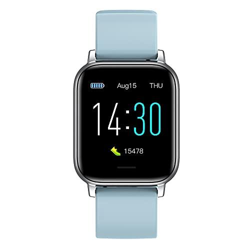 Smart Watch para teléfonos Android Compatible con iPhone Samsung, Fitness Tracker Reloj Resistente al Agua con Monitor de frecuencia cardíaca y Monitor de sueño, Smart Watch para Hombres y Mujeres
