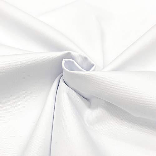 150 cm / 59 inch Wide 100% Cotton Drill Fabric (White, 3 Meter)