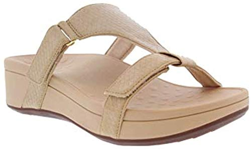 Vionic Women's Pacific Ellie Wedge Sandals - Ladies Casual Sneakers with Concealed Orthotic Arch Support Oat 8 Medium US