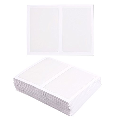 Juvale 100-Pack Self-Adhesive Business Card Holders - Pockets Open on Short Side - Ideal for Organizing and Safe Archiving of Your Business Cards - Crystal Clear Plastic, 3.7 x 2.3 Inches