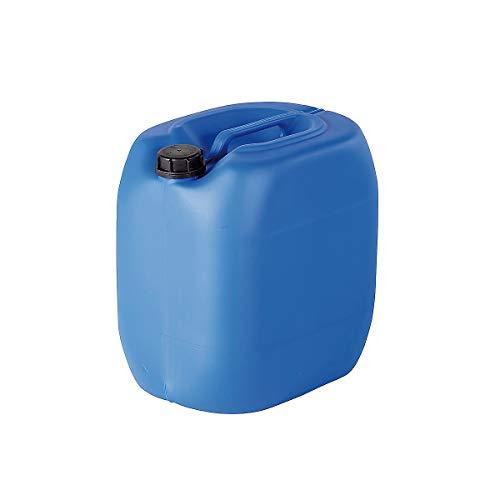 Certeo Kunststoffkanister | Blau | 30 l | Leerkanister Ersatzkanister Stapelbar Gefahrenstoffe