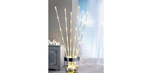 LED Zweige 6er-Set mit 48 LED in warmweiß Netzbetrieb stimmungsvolle Herbstdekoration Winterdekoration 2700K 0,6Watt (1er Set)
