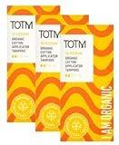 Tres paquetes de 16algodón orgánico aplicador tampones (tamaño mediano) 100% biodegradables, 100% algodón orgánico, PH Neutro