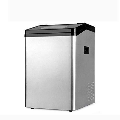 Machine à glaçons commerciale 55 kg seau d'eau à double usage grand magasin de boissons froides bar bureau ménage automatique machine à glaçons, nettoyage automatique à un bouton