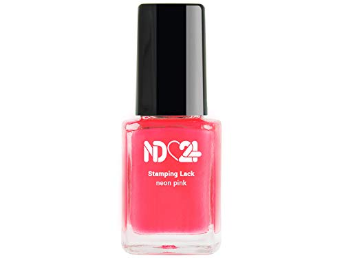 Stamping Nagellack Lack Neon Pink - Rosa - Hochpigmentiert - Made In Germany - 12ml