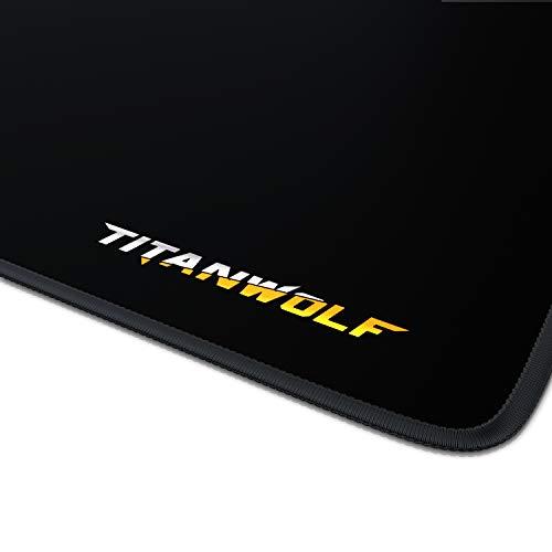 CSL - XXL Gaming Mauspad 900x400mm Titanwolf - XXL Mousepad groß mit Motiv - Tischunterlage Extra Large Size - verbessert Präzision und Geschwindigkeit - für Roccat Razer Logitech Maus und Tastatur