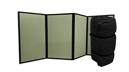 Combinación Tatami Plegable y Futon portátil Negro, 80x200x4 cm