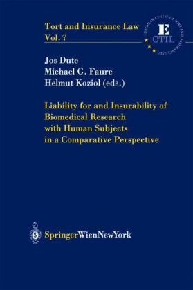 Liability for and Insurability of Biomedical Research with Human Subjects in a Comparative Perspective PDF Books