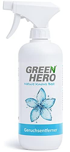 Green Hero Geruchsentferner Spray für Textilien, Schuhe etc. gegen Gerüche, 500 ml, Neutralisiert Gerüche wie Schweiß, Urin, Erbrochenes etc.