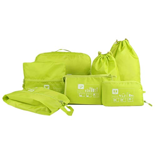 Toiletry Bag Travel Best Packing Cubes Set Travel Luggage Organizers Suitcase Travel Accessories (Color : Green)