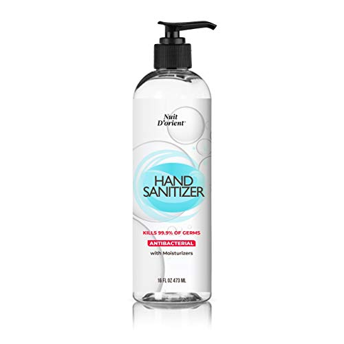Hand Sanitizer 65% Alcohol Gel for Hands with Moisturizer 16 FL OZ with Pump (1 Unit)