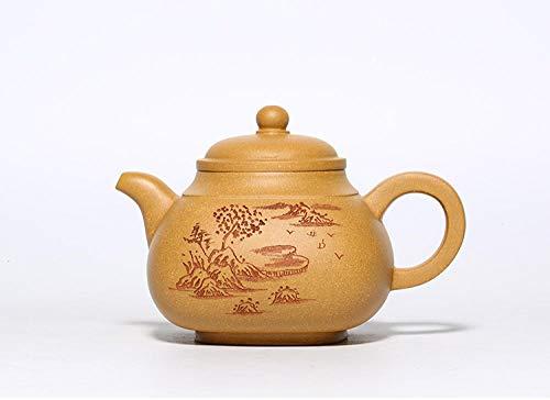 Lila Ton Teekanne Voll Handgefertigter Lila Tontopf, Quadratischer Pfannentopf, Xi Shi-Topf, Haushaltsteekanne