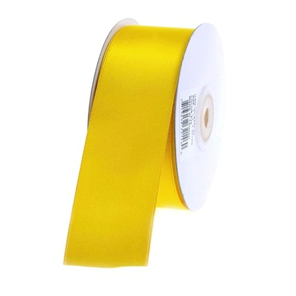 Homeford Firefly Imports Double Face Satin Ribbon, 1-1/2-Inch, 25 Yards, Dark Yellow, 1.5