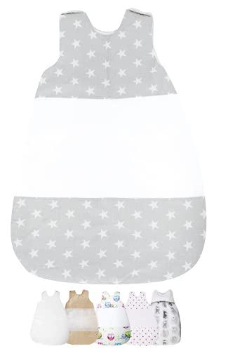 Vizaro - Saco de Dormir Bebé Recién Nacido (0-4 meses) 100g - 2,5Tog - Invierno, Entretiempo - 100% Algodón - Hecho UE, OekoTex - Estrellitas
