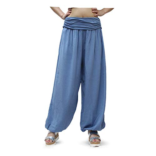 GLOMY Pantaloni Larghi da Donna Stile Harem Sportivi da Yoga Stile