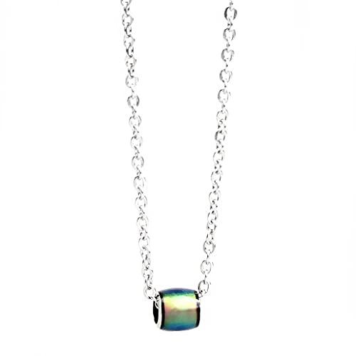 NC Collar con Colgante de Humor Que Cambia de Color Vintage para Mujer, Amuleto de La Suerte