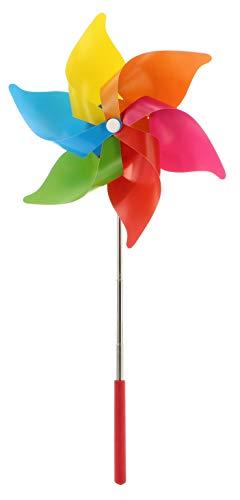 MIK funshopping Windrad Windmühle ausziehbar Rainbow Regenbogen Pride Mehrfarbig (1 Stück)