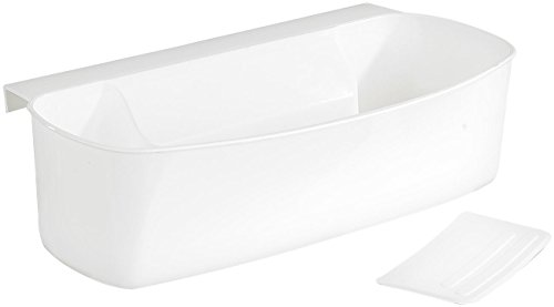 Rosenstein & Söhne Ciotola per Raccolta rifiuti da Cucina, con spatola, Bianco, 1