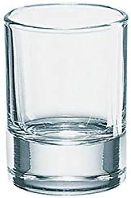 Borgonovo Indro Juego de 6 Tequileros de Vidrio, 45 ml