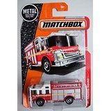 Matchbox 2016 MBX Heroic Rescue Hazard Squad Fire Engine Fire Truck Red FDNY High Rise